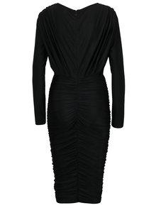 Čierne puzdrové šaty s riasením AX Paris