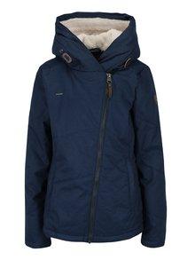 Modrá dámská voděodolná bunda s kapucí a kapsami Ragwear Gordon