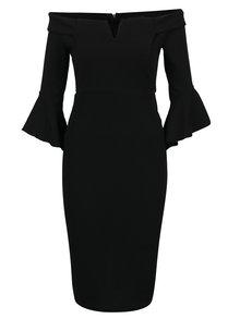 Černé pouzdrové šaty se zvonovými rukávy AX Paris