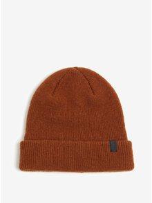 Hnědá vlněná čepice Selected Homme Wool
