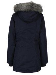 Tmavomodrá dámska zimná bunda s umelou kožušinkou Ragwear Break Long