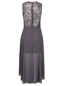 Sivé šaty s čipkovaným topom AX Paris