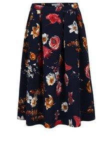 Tmavomodrá kvetovaná sukňa Fever London Elodie