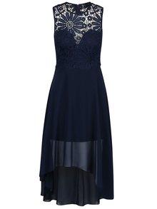 Tmavomodré šaty s čipkovaným topom AX Paris
