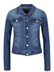 Modrá džínová bunda s výšivkou na zádech Haily´s Enna
