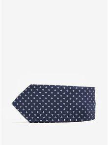 Modrá vzorovaná kravata Selected Homme Xavier