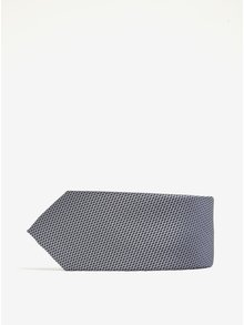 Modrošedá vzorovaná kravata Selected Homme Xin