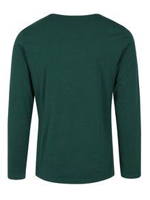 Zelené pánske slim fit tričko s dlhým rukávom s.Oliver