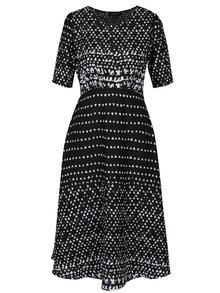 Čierne vzorované šaty Fever London Minola