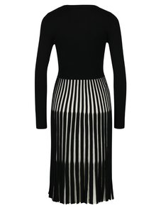 Rochie negru cu crem cu pliseuri Fever London Lewes