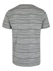 Sivé pánske pruhované tričko Ragwear Skywatch