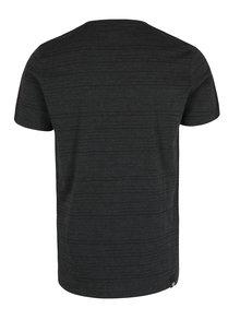 Černé pánské pruhované tričko Ragwear Skywatch