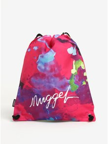 Rucsac roz & mov cu print abstract si logo - NUGGET Hype 2