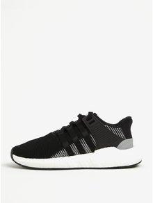 Černé pánské tenisky s bílou podrážkou adidas Originals Eqt Support