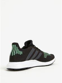 Pantofi sport negru cu verde adidas Originals Swift Run