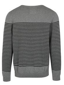 Pulover gri&negru in dungi pentru barbati s.Oliver