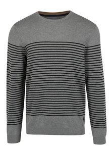 Šedý pánský pruhovaný svetr s.Oliver