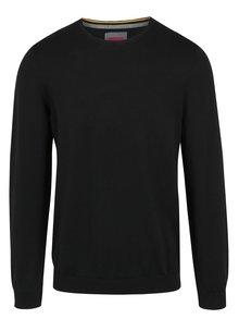 Čierny pánsky sveter s okrúhlym výstrihom s.Oliver