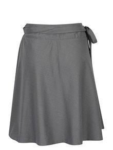 Sivá melírovaná kašmírová sukňa na zavinovanie La femme MiMi