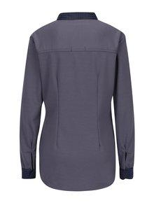 Sivá košeľa s dlhým rukávom La femme MiMi