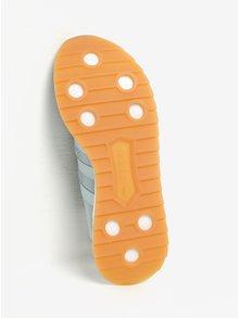 Mentolové dámske dierkované tenisky s detailami adidas Originals FLB