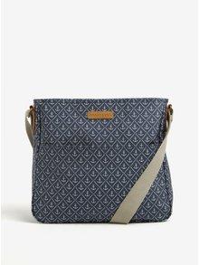 Krémovo-modrá vzorovaná kabelka Brakeburn