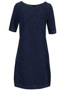 Tmavě modré dámské džínové šaty s.Oliver