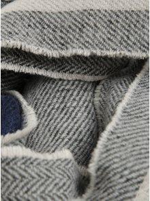 Modro-šedá kostkovaná šála VERO MODA Milei