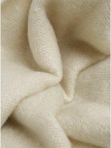 Sivo-krémový šál so strapcami VERO MODA Cana