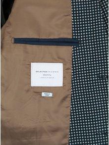 Tmavomodré sako s jemným vzorom Selected Homme Done