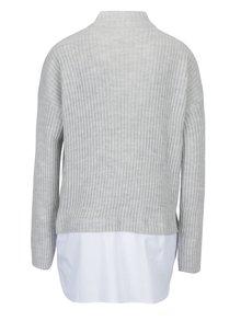 Camasa gri & alb cu aspect 2 in 1 si umeri cazuti -  Noisy May Nami
