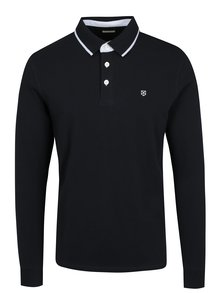 Bluza polo bleumarin Jack & Jones Premium Paulos