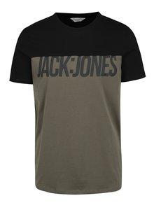Kaki tričko s potlačou Jack & Jones Char