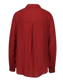 Tehlová košeľa s náprsnými vreckami VERO MODA Koko