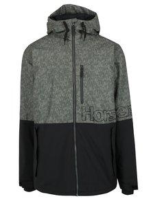 Čierno-zelená pánska zimná bunda Horsefeathers Cline