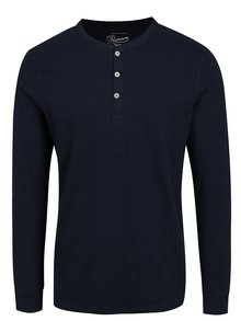 Bluza bleumarin cu nasturi Jack & Jones Premium Melton