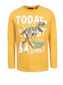 Žluté klučičí tričko s barevným potiskem Blue Seven
