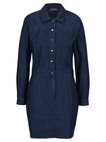 Tmavě modré džínové košilové šaty Calvin Klein Jeans Dexter