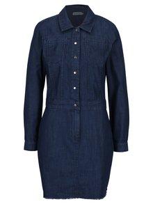Tmavomodré rifľové košeľové šaty Calvin Klein Jeans Dexter