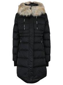 Čierny dámsky zimný prešívaný páperový kabát Calvin Klein Jeans Opra