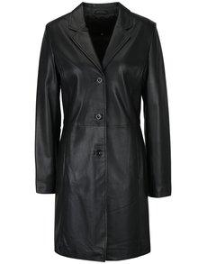 Čierny dámsky kožený kabát KARA Angela