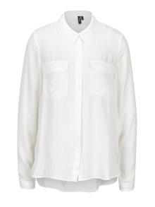 Krémová košeľa s náprsnými vreckami VERO MODA Koko