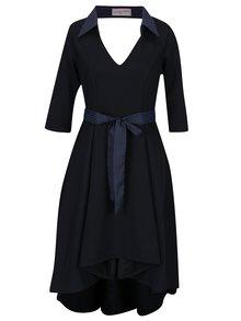 Čierne šaty s golierikom La femme MiMi