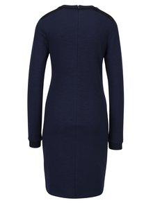 Tmavě modré mikinové šaty s ozdobnými detaily Scotch & Soda