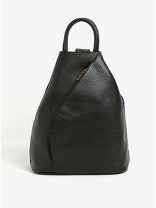 Čierny dámsky kožený batoh/kabelka KARA