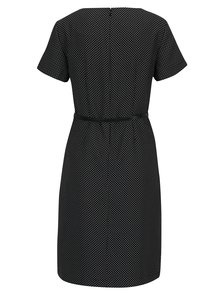 Čierne bodkované šaty s opaskom VERO MODA Helen