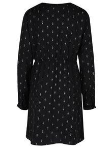 Čierne vzorované šaty s dlhým rukávom VERO MODA Folia