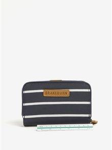 Bílo-modrá pruhovaná peněženka Brakeburn