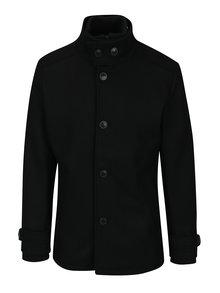 Černý vlněný zimní kabát Jack & Jones Joe