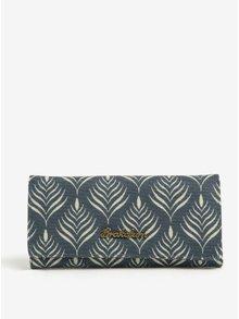 Krémovo-modrá vzorovaná peňaženka Brakeburn